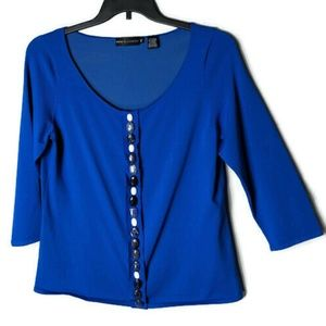 Dana Buchman Scoop Neck Blouse